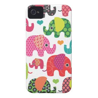 Coque iphone coloré de motif d enfants d éléphant étuis iPhone 4
