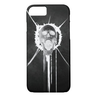 Coque iphone criard de crâne (noir inversé)