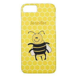 Coque iphone d'abeille de miel de bande dessinée