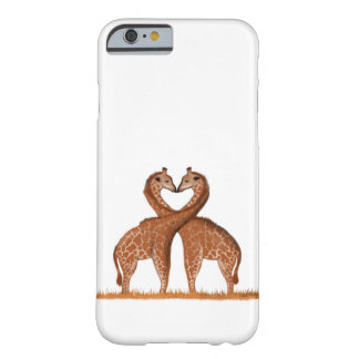 Coque iphone d'amour de girafes coque barely there iPhone 6