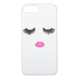 Coque iphone d'amour de mèche et de lèvre