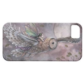 Coque iphone d'art d'imaginaire de fée et de hibou coque Case-Mate iPhone 5