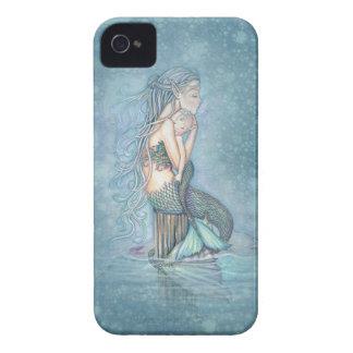 Coque iphone d'art d'imaginaire de sirène de mère  étuis iPhone 4