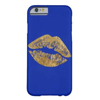 Coque iphone de baiser d'effet de feuille d'or