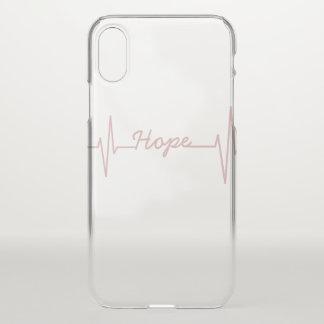 Coque iphone de battement de coeur d'espoir