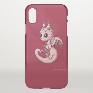 Coque iphone de dragon d'amour clair
