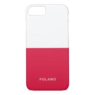 Coque iphone de drapeau de la Pologne