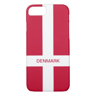 Coque iphone de drapeau du Danemark