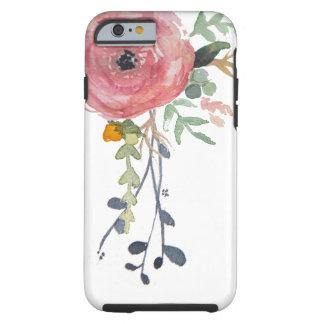Coque iphone de fleur de pivoine d'aquarelle coque tough iPhone 6