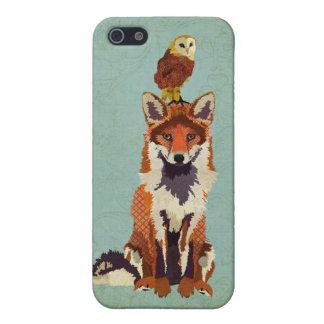 Coque iphone de Fox rouge et de hibou Étuis iPhone 5