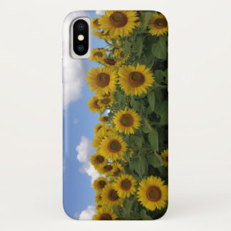 Coque iphone de gisement de tournesol