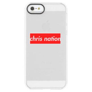 Coque iphone de logo de boîte de nation de Chris