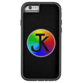 Coque iphone de logo de roue de couleur de JK