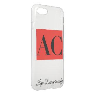 Coque iphone de logo et de devise d'habillement à