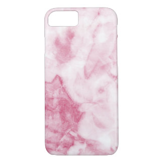 Coque iphone de marbre rose