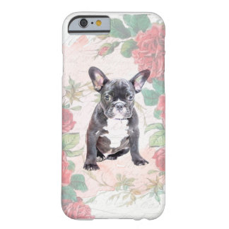 Coque iphone de roses de valentine de bouledogue