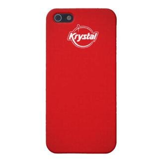 Coque iphone de rouge de Krystal