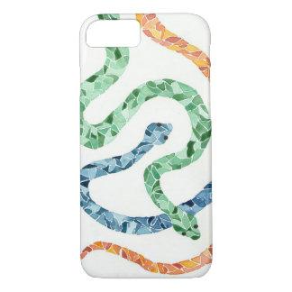 Coque iphone de serpent d'aquarelle de mosaïque