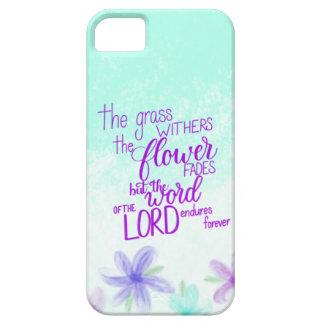 Coque iphone de vers de bible de Handlettered,