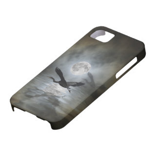 Coque iphone d'imaginaire de lune de héron coques iPhone 5 Case-Mate