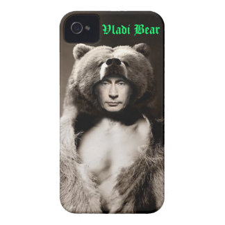 Coque iphone d'ours de Vladimir Poutine Vladi Coques Case-Mate iPhone 4