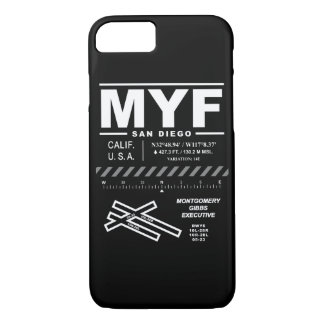 Coque iphone exécutif de l'aéroport MYF de