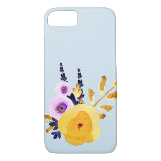 Coque iphone floral d'aquarelle de zen