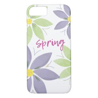 Coque iphone floral de ressort d'aquarelle