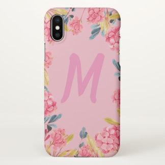Coque iphone Girly rose floral de vue de