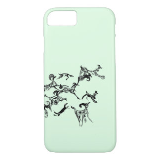 "Coque iphone graphique de griffonnage ""de course"