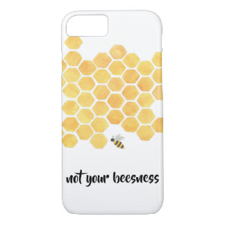 coque iphone jaune de peinture d'abeille de nid