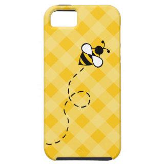 Coque iphone jaune mignon d'abeille de miel