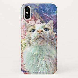 Coque iphone mignon de papillon de fleur de chat