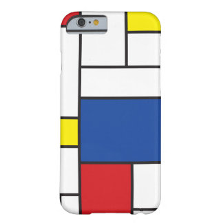 Coque iphone minimaliste d'art de Mondrian de