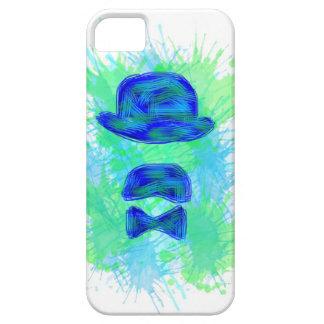 Coque Iphone Moustache Bleu