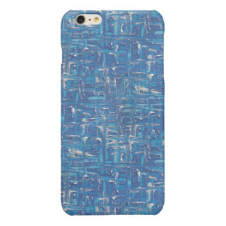 Coque iphone - peinture abstraite de bleu