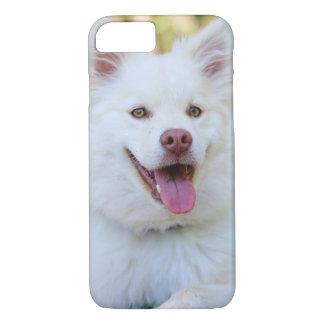 Coque iphone pelucheux blanc mignon de chien coque iPhone 7