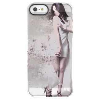Coque iPhone Permafrost® SE/5/5s Fille dans le cas fait sur commande iPhone blanc