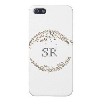 Coque iphone personnalisable de monogramme de iPhone 5 case