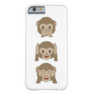 Coque iphone personnalisable d'Emoji de singe Coque Barely There iPhone 6