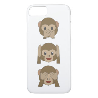Coque iphone personnalisable d'Emoji de singe Coque iPhone 7