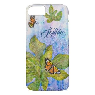 Coque iphone personnalisé avec le papillon et le