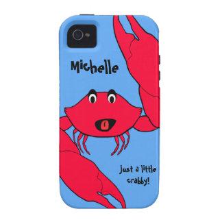 Coque iphone personnalisé désagréable de crabe mig