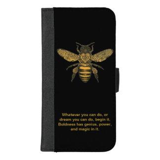 Coque iphone/portefeuille d'abeille de miel