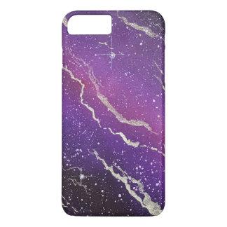 Coque iphone pourpre de galaxie de l'espace