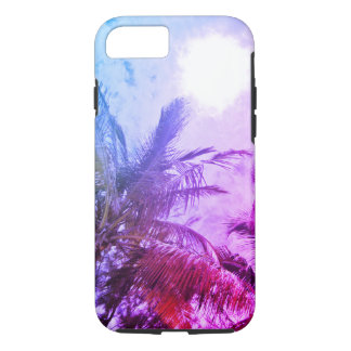 Coque iphone pourpre de palmier
