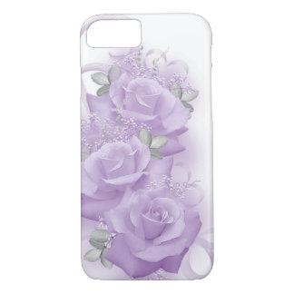 Coque iphone pourpre de roses