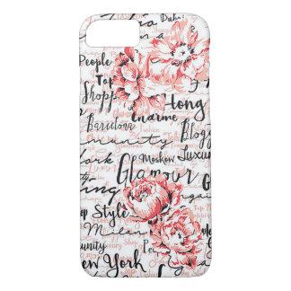 Coque iphone rose blanc inspiré de noir de la vie
