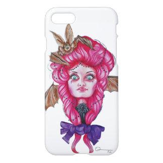 Coque iphone rose de fille de batte