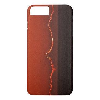 Coque iphone rouge de coucher du soleil